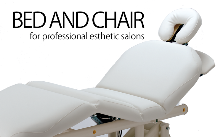 BED AND CHAIR for professional esthetic salons